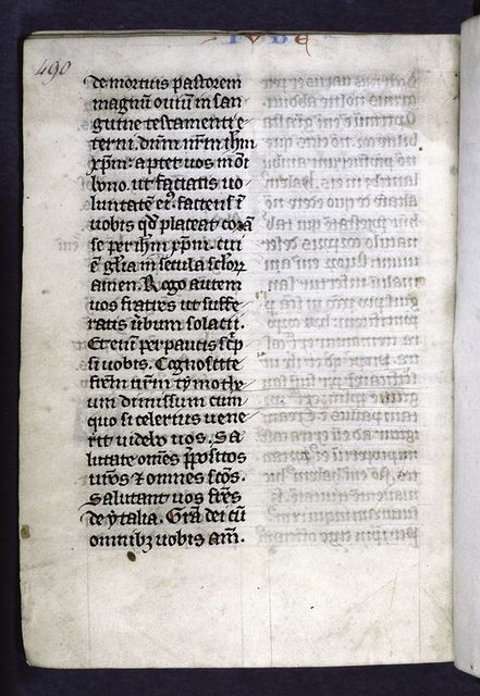 Explicit -- end of Hebrews.  Note that name of book at top of page (Jude) is incorrect.