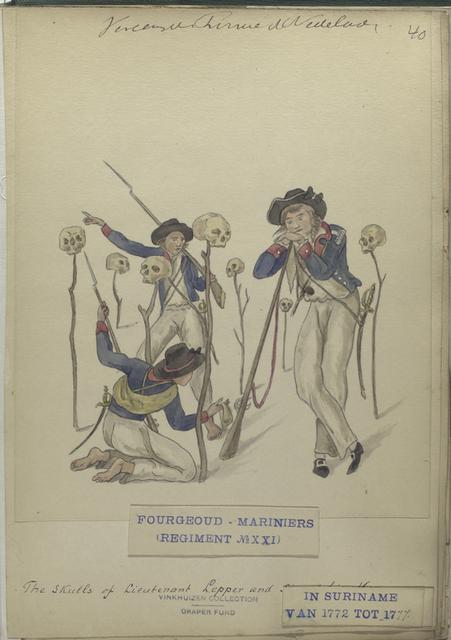 Fourgeoud -Mariniers (Regiment no. 21), in Suriname van tot 1777.