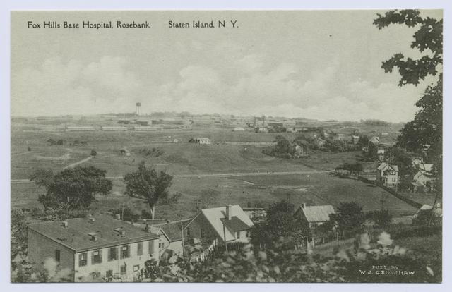 Fox Hills Base Hospital Rosebank, Staten Island, N.Y.  [aerial view]