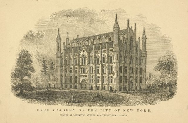 Free Academy of the City of New York, corner of Lexington Avenue and Twenty-Third Street. Exterior view