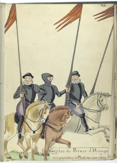 Gardes du Parnce [Prince] d'Orange en garnison à Malines vers 1580