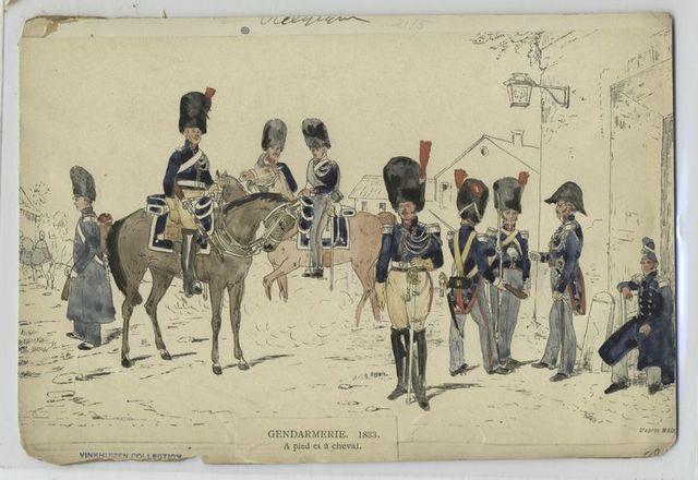 Gendarmerie, 1833. A pied et à cheval.