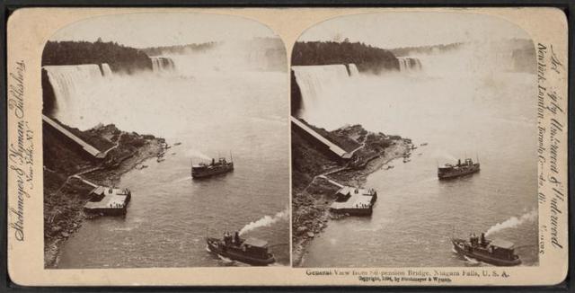 General view from Suspension Bridge, Niagara Falls, U.S.A.
