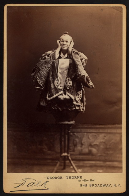 """George Thorne as """"Ko-Ko"""" in the D'Oyly Carte Opera Company stage production The Mikado (Gilbert And Sullivan)."""