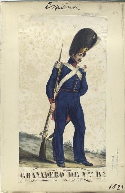 Granadero de V-os R-s [Voluntarios Realistas].  1823