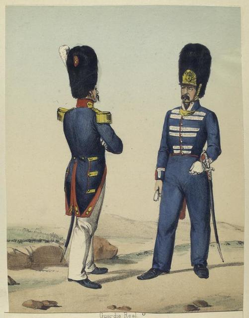Guardia real. Oficial de Provinciales, Oficial de Infanteria. 1830