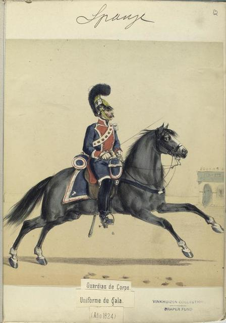 Guardias de Corps. Uniforme de gala. 1824