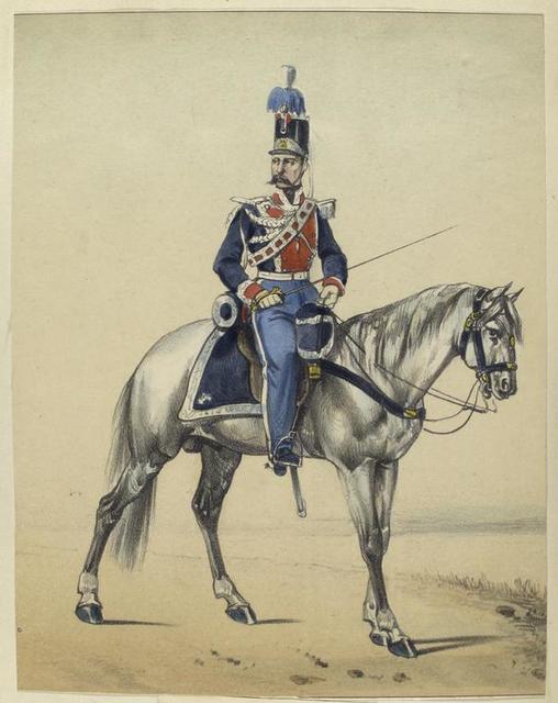 Guardias de la Persona del Rey. Caballo Ligero. 1834