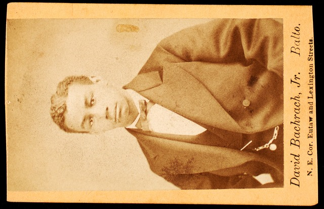 [Half-figure portrait of man wearing bow tie.]