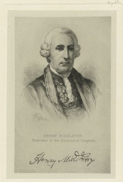 Henry Middleton, President of the Continental Congress.