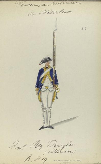 Infanterie Regiment Douglas [?](mariners?).  Reg. No. 19. 1775