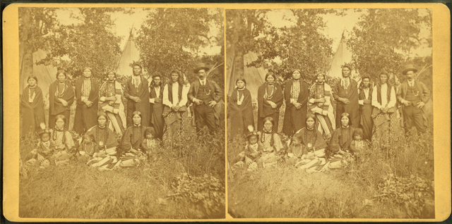 Interpreter and Nez Perce Indians.