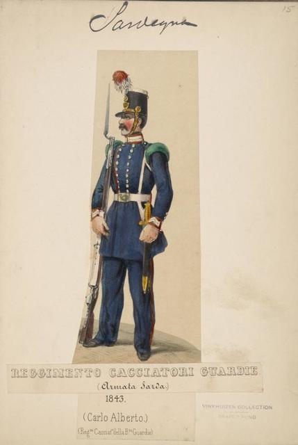Italy. Sardinia, 1843-1845