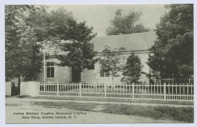 James Watson Hughes Memorial Library, New Dorp, Staten Island, N.Y.