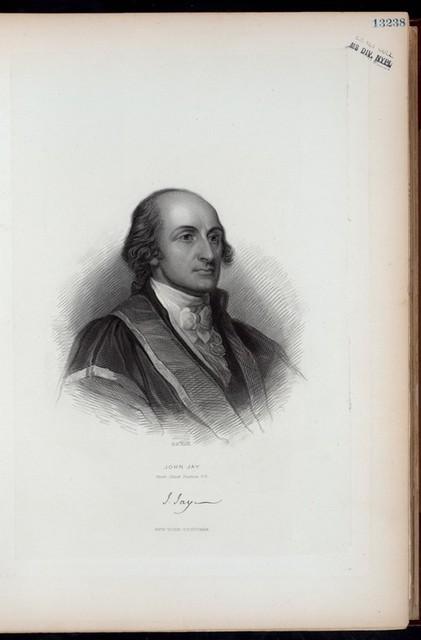 John Jay. First Chief Justice U.S.