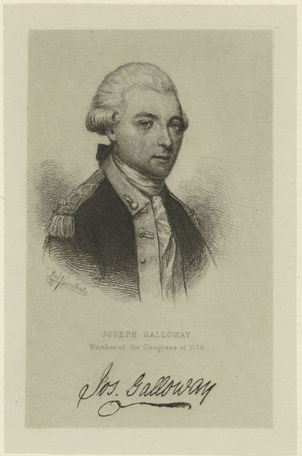 Joseph Galloway, member of the Congress of 1774.