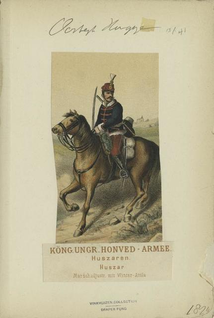 Köng. Ungr. Honved-Armee Huszaren. Huszar (Marschadjustr. mit Winter-Attila).