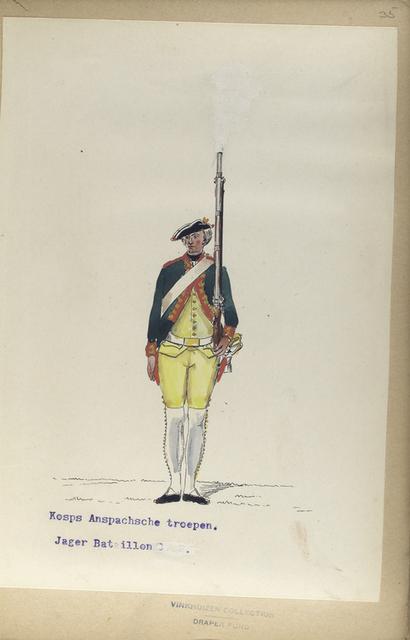 Korps Anspachsche troepen. Jager Bataillon.