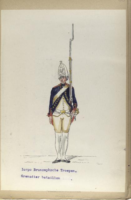 Korps Brunswyksche troepen. Grenadier bataillon.