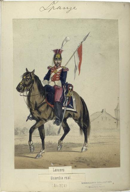 Lancero. Guardia real. 1824