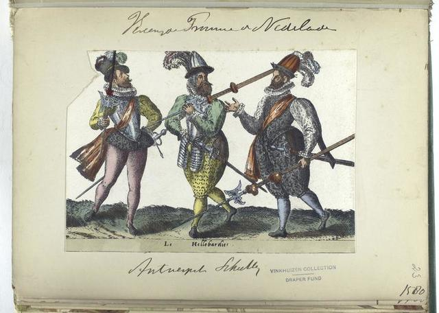 Le hellebardies [Vereenigde Provincien der Nederlanden: Antwerpet schutter, 1580]