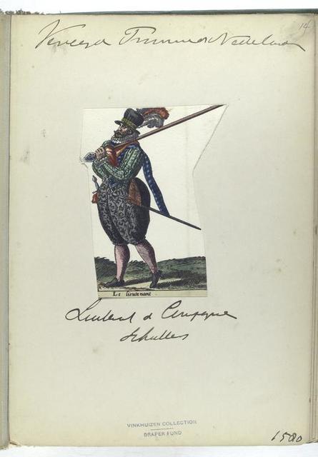 Le lieutenant [Vereenigde Provincien der Nederlanden: luitenant d compagnie Schullers, 1580]