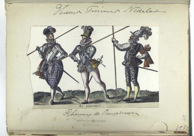Le piqueniers [Vereenigde Provincien der Nederlanden: pikeurs [?] de Burgehregen [?], 1580]