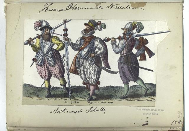 Le porteur despees a deux main [Vereenigde Provincien der Nederlanden: Antwerpen schutter, 1580]