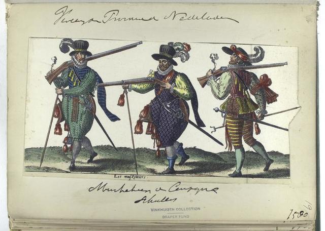 Les muskettiers Vereenigde Provincien der Nederlanden: musketier d compagnie schutters, 1580