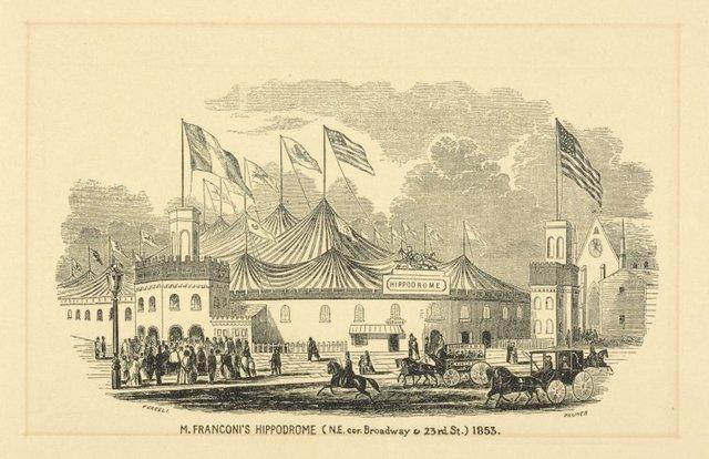 M. Franconi's Hippodrome (N.E. Broadway & 23 St.) 1853
