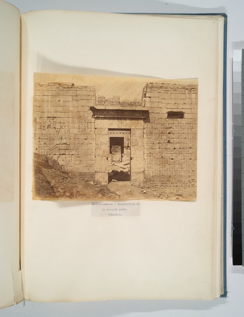 Medinet-About - inscription de la seconde porte (Thebes)