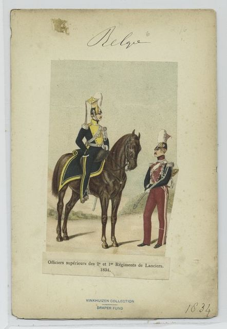 Officiers supérieurs des 2e et 1er régiments de Lanciers, 1834