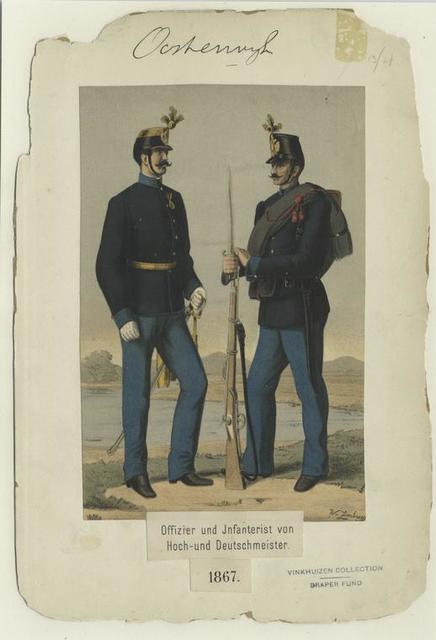 Offizier und Infanterist von Hoch- und Deutschmeister. 1867
