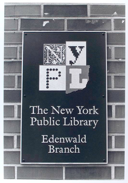 Outdoor sign, Edenwald Library