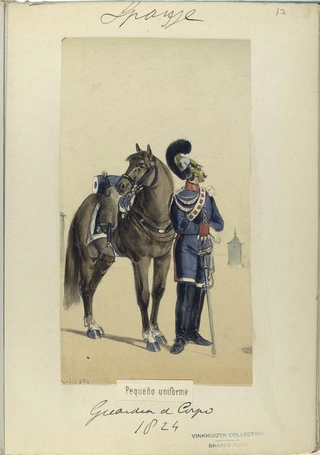 Pequeño uniforme. Guardia de Corps. 1824