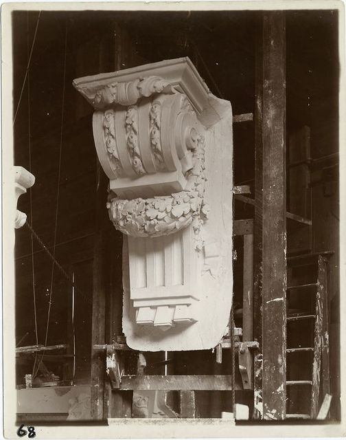 [Plaster model of a console.]