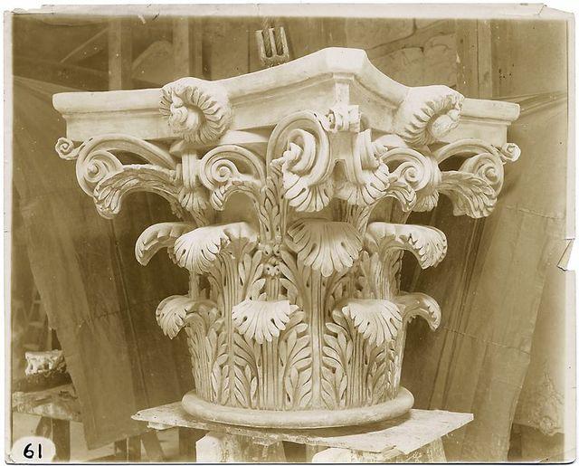 [Plaster model of a Corinthian capital.]