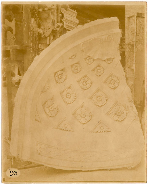 [Plaster model of part of a niche.]