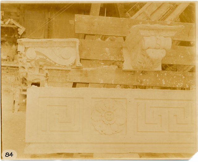 [Plaster models of consoles and architectural decorations.]