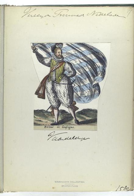Porteur de lenseigne [Vereenigde Provincien der Nederlanden: vaandeldrager, 1580]