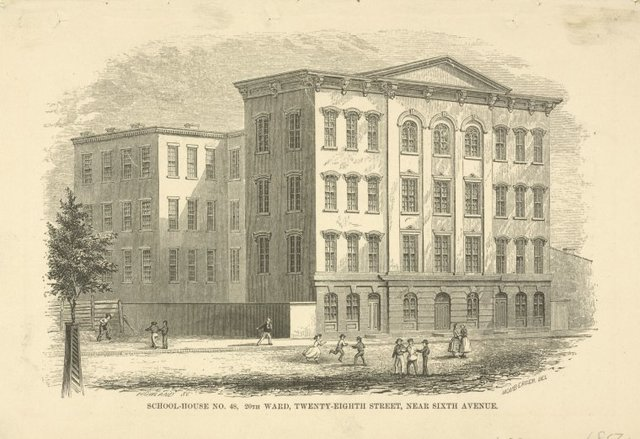 Public schools. School-House No. 48, 20th Ward, Twenty-Eighth Street, near Sixth Avenue.