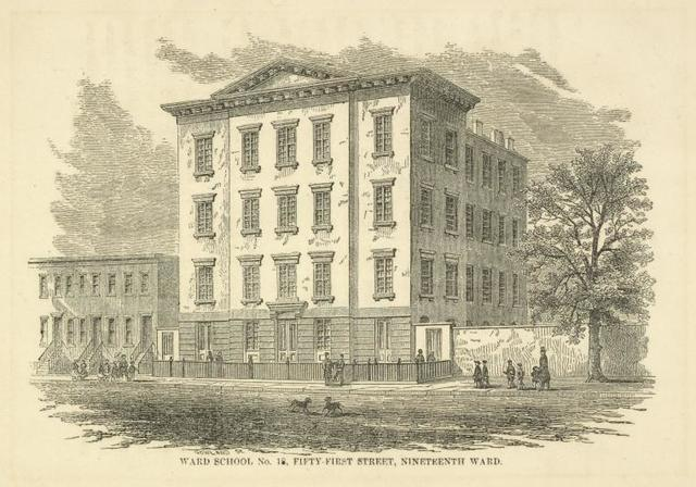 Public schools. Ward School No. 18, Fifty-First Street, Nineteenth Ward.