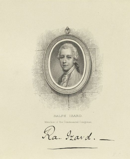 Ralph Izard member of the Continental Congress