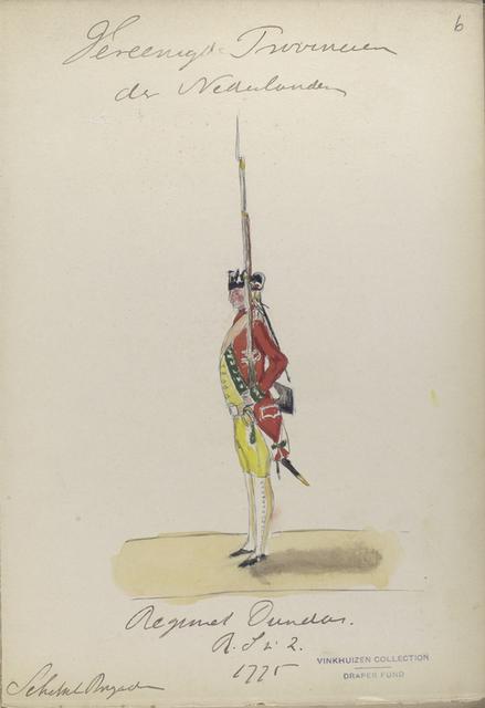 Regiment Dundas R.S. 2. Schotsche Brigade. 1775