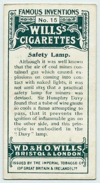 Safety lamp.