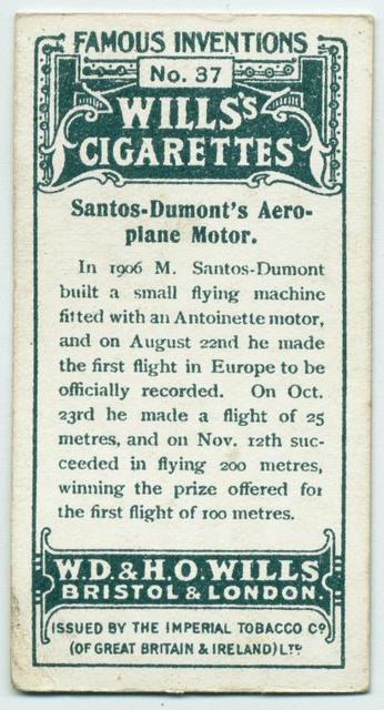 Santos-Dumont's aeroplane motor.