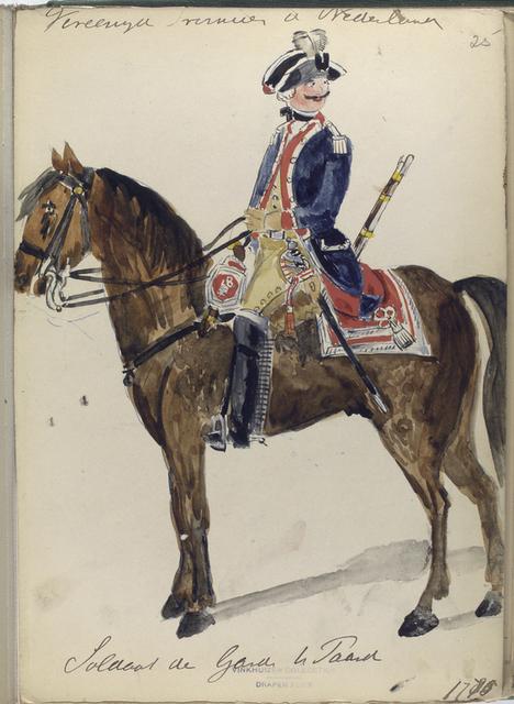 Soldaat de Garde te Paard. 1775