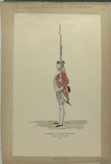 Soldier of Scots Brigade, Houston's Regiment. 1775