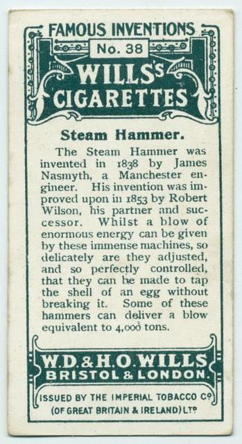 Steam hammer.