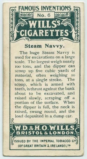 Steam navvy.